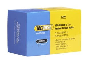 TACWISE 16G X 63MM GALVANISED ANGLED FINISH NAILS (2,500)