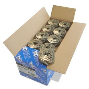 TACWISE 2.1 X 45MM GALV RING FLAT COIL NAILS (14,400)