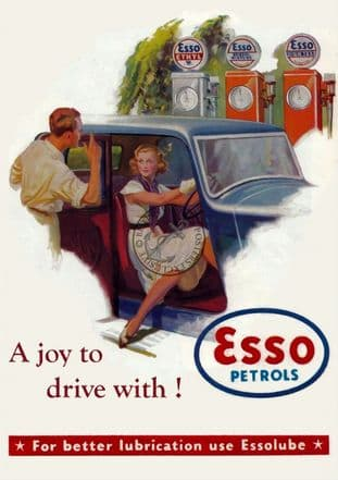 1950s Esso Petrol Advert