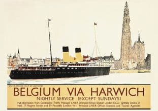 Belgium via Harwich - London & North Eastern Railway