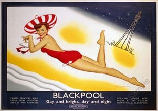 Blackpool, Art Deco Girl on Beach