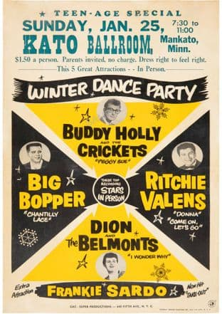 Buddy Holly Winter Dance Party Concert Tour 1959