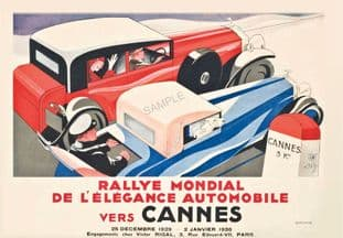 Cannes Rally Art Deco  'World Rally of Automotive Elegance'