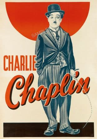 Charlie Chaplin 'The Tramp' Movie poster