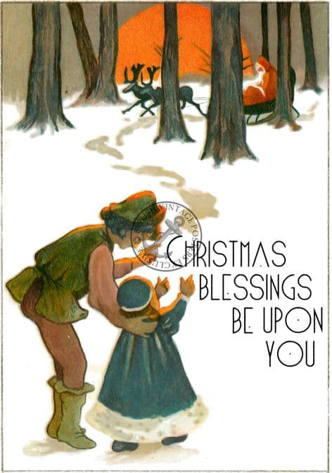 Christmas Postcards Pack of 6 C112