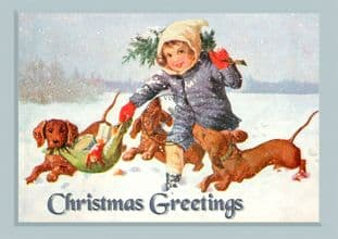 Christmas Postcards Pack of 6 C125