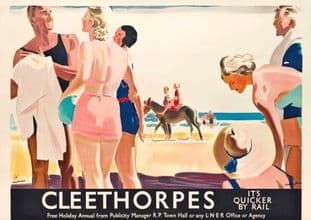 Cleethorpes, Lincolnshire Vintage Poster