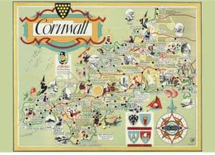 Cornwall  British rail railway map