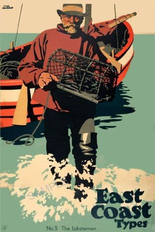 East Coast Lobster Fisherman