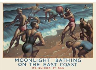 East Coast Moonlight Bathing Art Deco