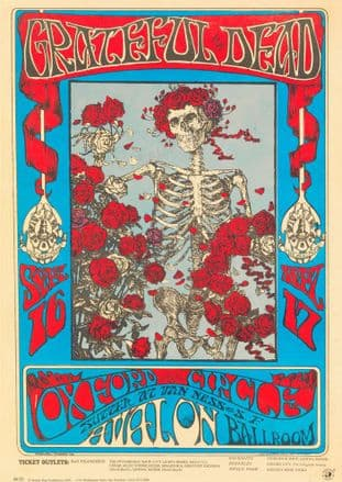 Grateful Dead Concert Tour 1966 Oxford Circle Avalon Ballroom