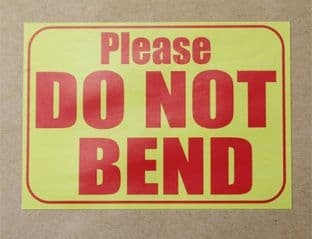 Large DO NOT BEND  Stickers