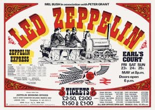 Led Zeppelin Earl's Court 1975 Rock  Music Concert Advert