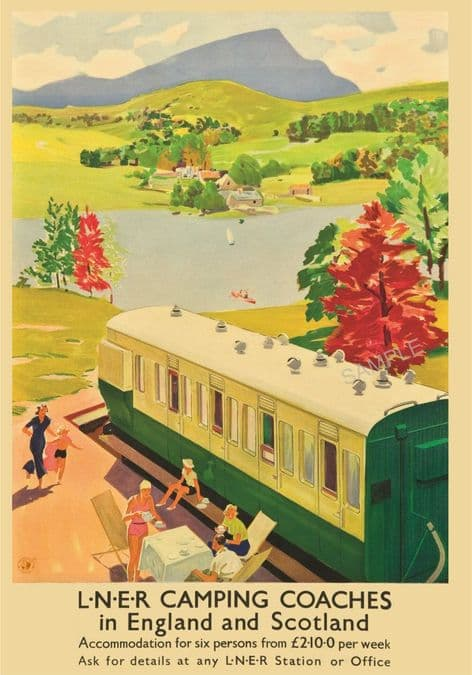 LNER Camping Coaches Holiday Advert