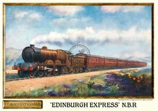 N.B.R. 'Edinburgh Express' Vintage Steam Train Poster