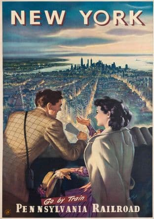 New York from  Empire State Railway ad