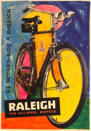 Raleigh Bike Advertising Poster