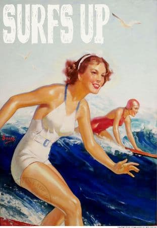 SURFERS POSTER 'SURFS UP'