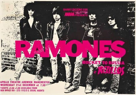 The Ramones & Rezillos Rockets to Russia Tour Poster