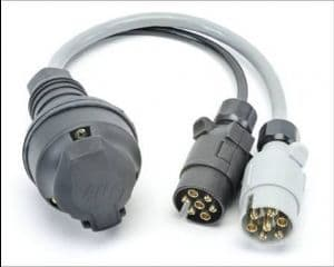13 pin socket to 7N & 7S plug