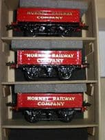 3 Hornby No.1 Open Wagons