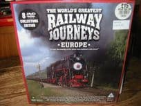 8-DVD Set Railway Journeys (Europe)