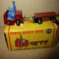 Dublo Dinky Lansing Bagnall Tractor and Trailer