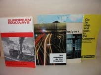 Four European Railways Booklets