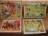 Four  Wooden Jigsaw Puzzles