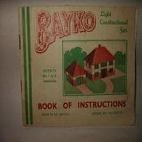 Pre-War Bayko Light Construction Set Instructions Book