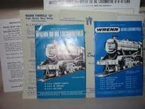 Wrenn Railways Instruction Manuals