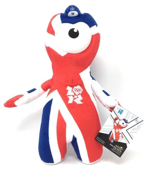 London 2012 Olympics WENLOCK Union Flag OFFICIAL Soft TOY - NEW