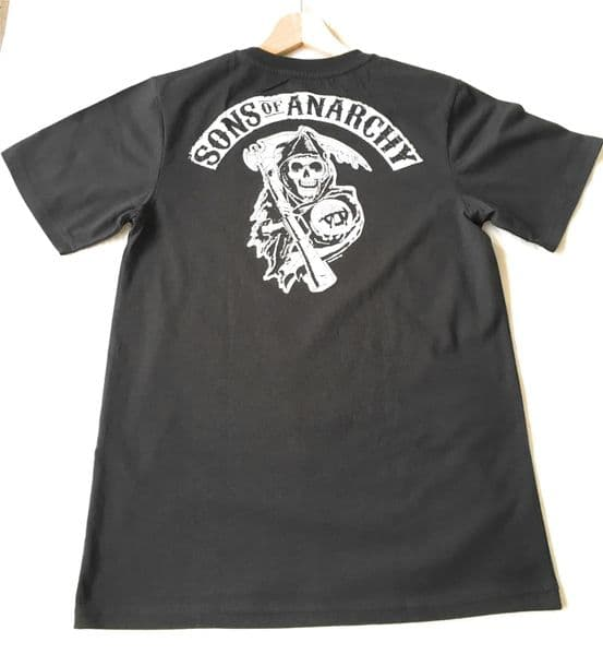 SONS OF ANARCHY BLACK T-Shirt - Medium - NEW