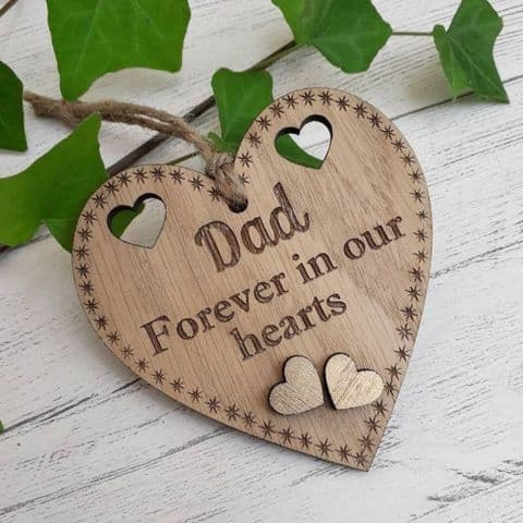 Personalised Forever in My Heart Remembrance Loss of a Loved One Memorial Sign Gift