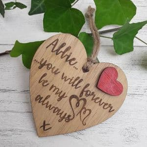 Personalised Love Heart 'You Will Forever Be My Always' I Love You Anniversary Gift