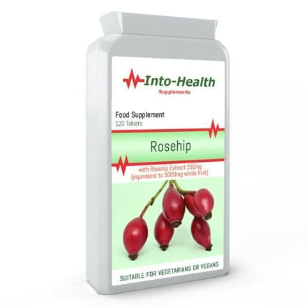 Rosehip 5000mg x 120 Capsules;  From Extract, with Vitamin C;  Into-Health