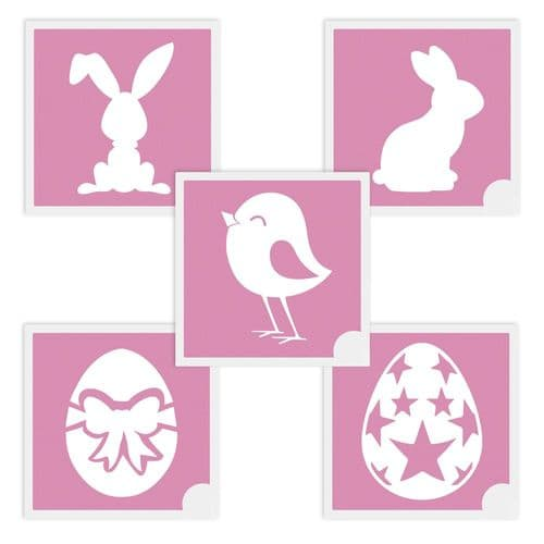 Equifashion Mini Glitter Tattoo Stencils - Pack of 5 Mixed Easter Set