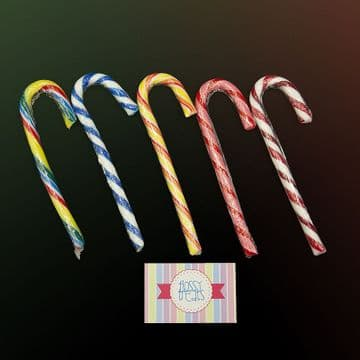 Multicoloured candy canes