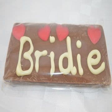 Personalised Belgium Chocolate Bar