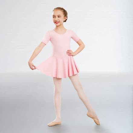 1st Position Hannah Skirted Pale Pink Leotard Cotton