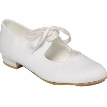 Tapper and Pointers White Canvas Low Heel Tap Shoes