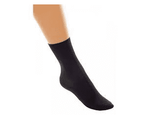 Tappers and Pointers Black Nylon Dance Socks