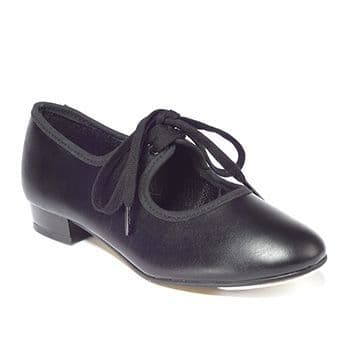 Tappers and Pointers Black PU Low Heel Tap Shoes