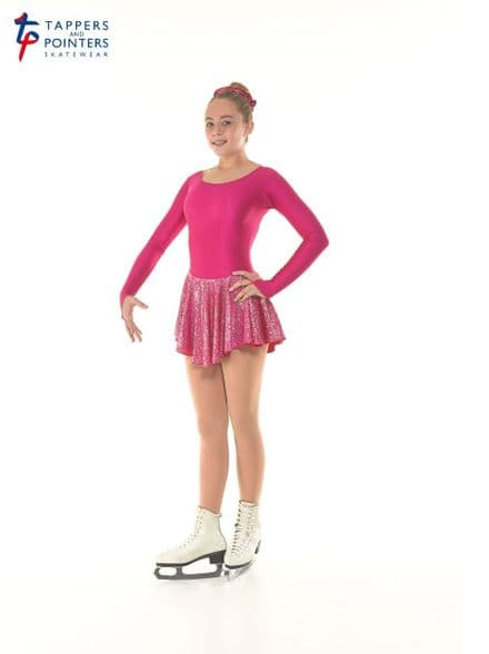 Tappers and Pointers Cerise Peony Skating Dress