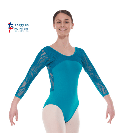 Tappers and Pointers Ele 2 Teal Leotard