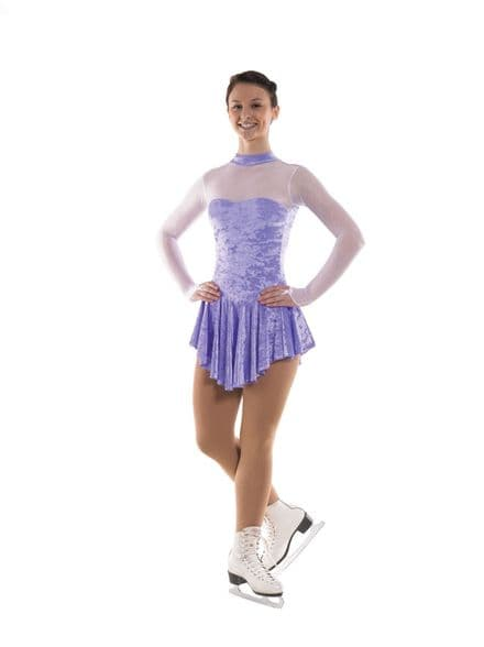 Tappers and Pointers Glittermist Lilac Velvet Skating Dress