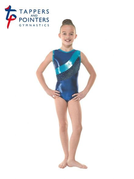 Tappers and Pointers Gym 33 Amazon Velvet Shine Sleeveless Gymnastic Leotard