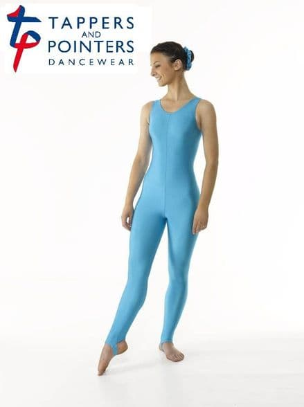 Tappers and Pointers Sleeveless Plain Front (Stirrup) Catsuit