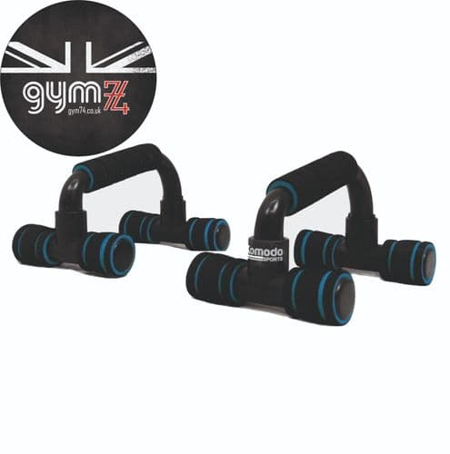 Komodo 2x Push Up Bars with Foam Handles for Press Up/Home Chest Exercise