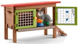 Rabbit hutch with Rabbits